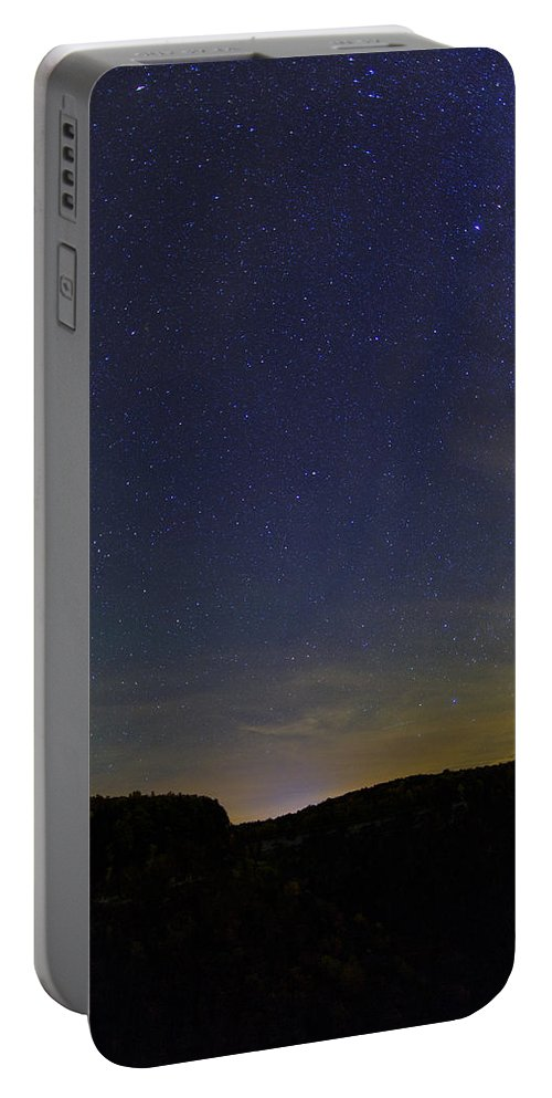 Autumn Portable Battery Charger featuring the photograph Stars Over Letchworth by Rick Berk