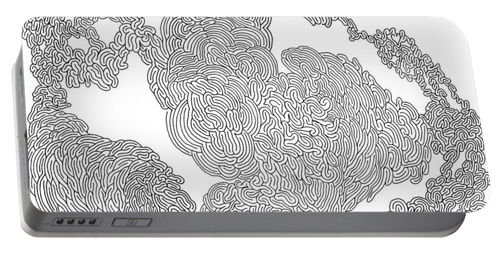 Mazes Portable Battery Charger featuring the drawing Starting Over by Steven Natanson