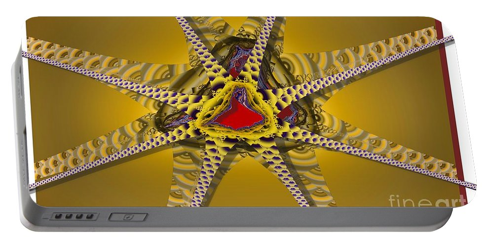 Stars Portable Battery Charger featuring the digital art Starz by Ron Bissett