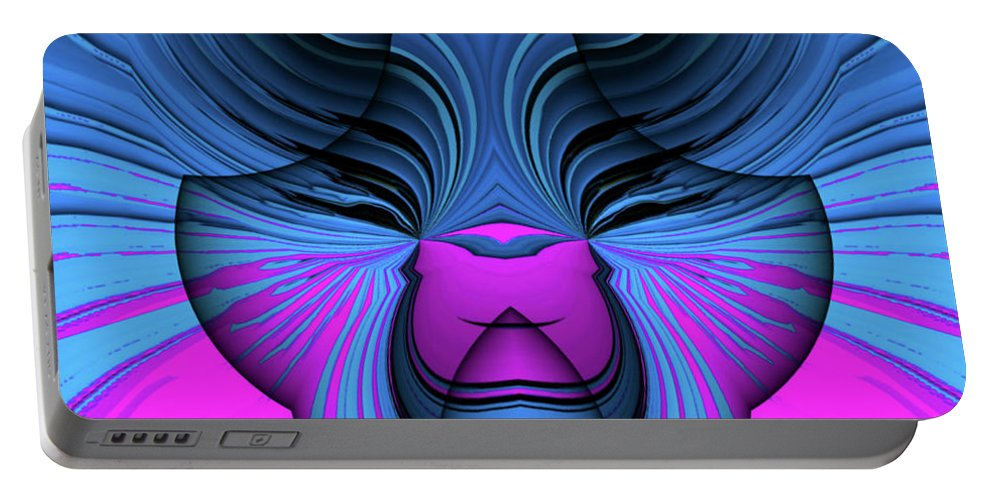 Stateofbliss Portable Battery Charger featuring the painting State Of Bliss by Barry King