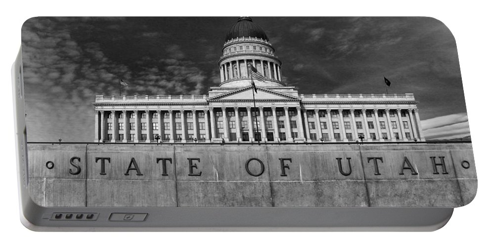 Capitol Portable Battery Charger featuring the photograph State Of Utah by Buck Buchanan