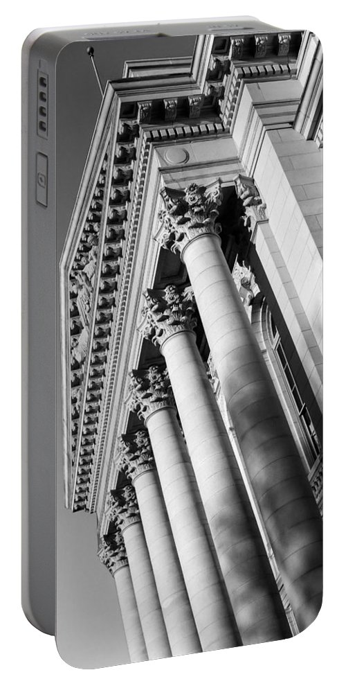 Columns Portable Battery Charger featuring the photograph Stately Colonnade by Todd Klassy