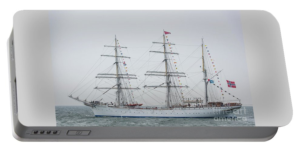 Ship Portable Battery Charger featuring the photograph Statsraad Lehkuhl From Norway by Alex Hiemstra