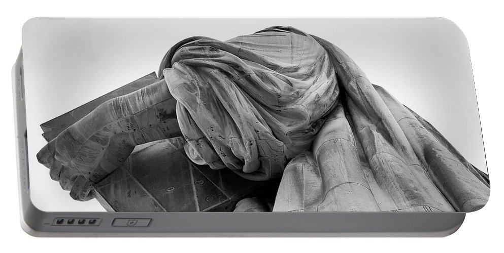 4th Of July Portable Battery Charger featuring the photograph Statue Of Liberty, Arm, 2 by Marco Catini