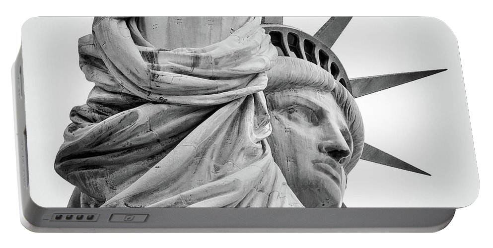 4th Of July Portable Battery Charger featuring the photograph Statue Of Liberty, Lateral Portrait by Marco Catini