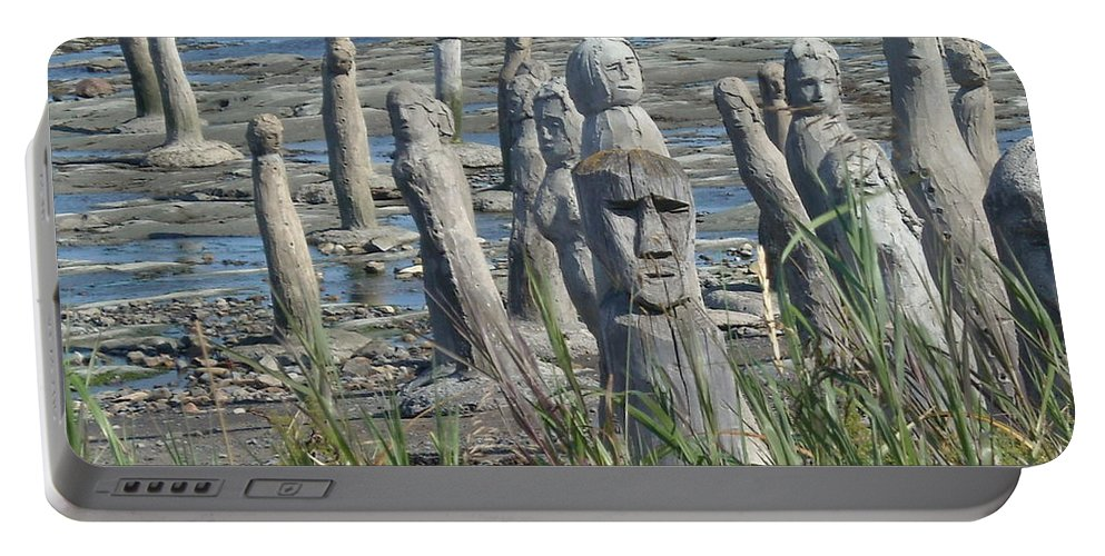 Landscape Portable Battery Charger featuring the photograph Ste Flavie by Line Gagne