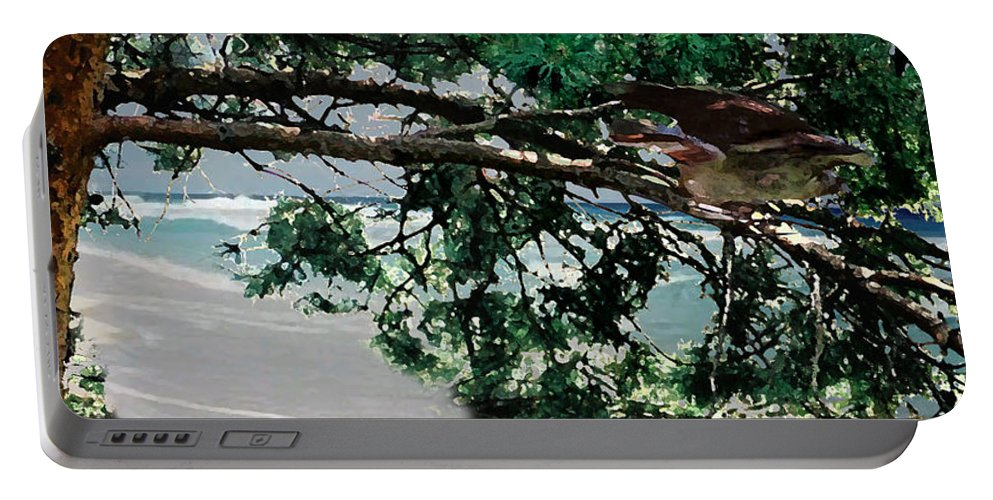 Landscape Portable Battery Charger featuring the painting Stealth by Steve Karol