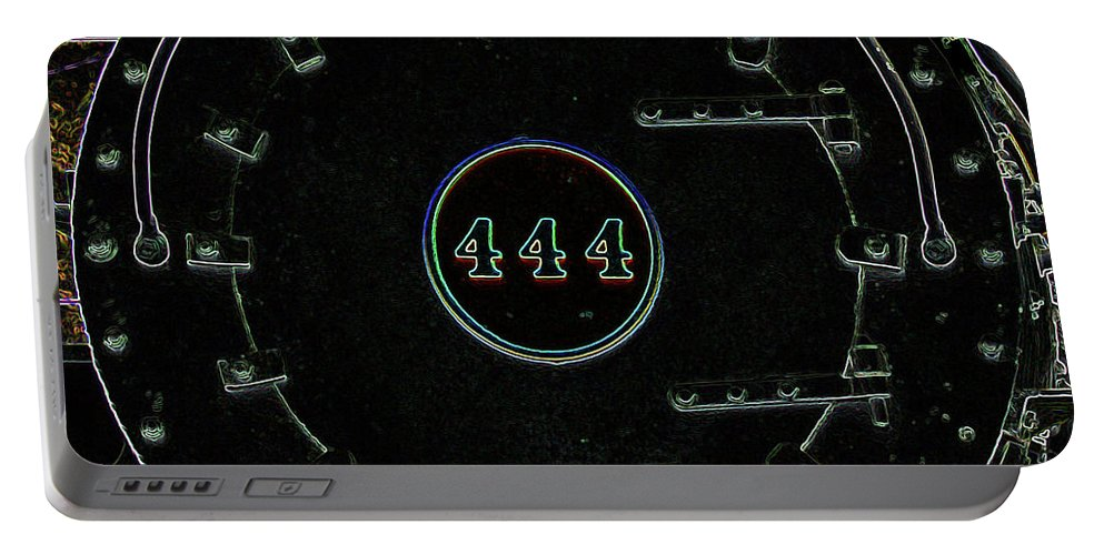 Steam Engine 444 Portable Battery Charger featuring the photograph Steam Engine 444 by Kim Pate