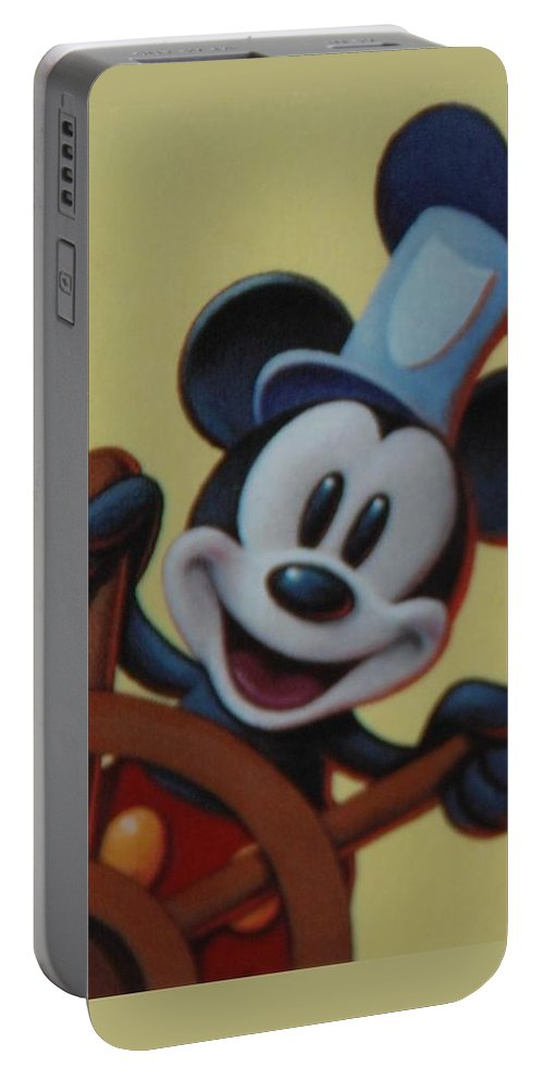 Disney Portable Battery Charger featuring the photograph Steamboat Willy by Rob Hans