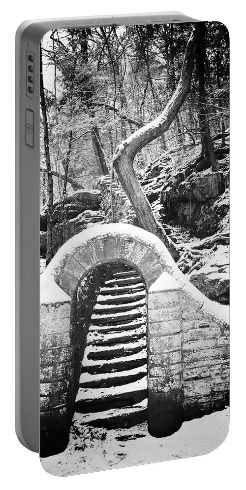 Philadelphia Portable Battery Charger featuring the photograph Steps Along The Wissahickon by Bill Cannon