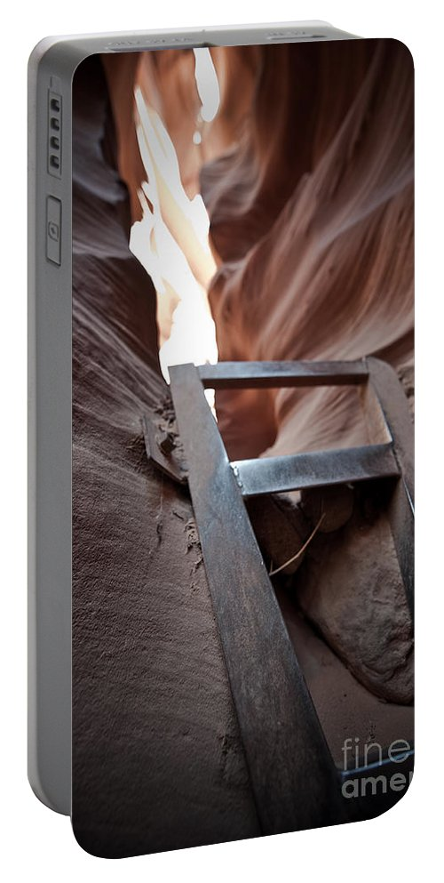 Slot Canyon Portable Battery Charger featuring the photograph Steps In A Slot by Scott Sawyer