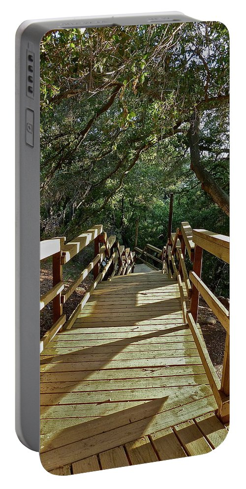 Country Portable Battery Charger featuring the photograph Steps To Adventure by Diana Hatcher