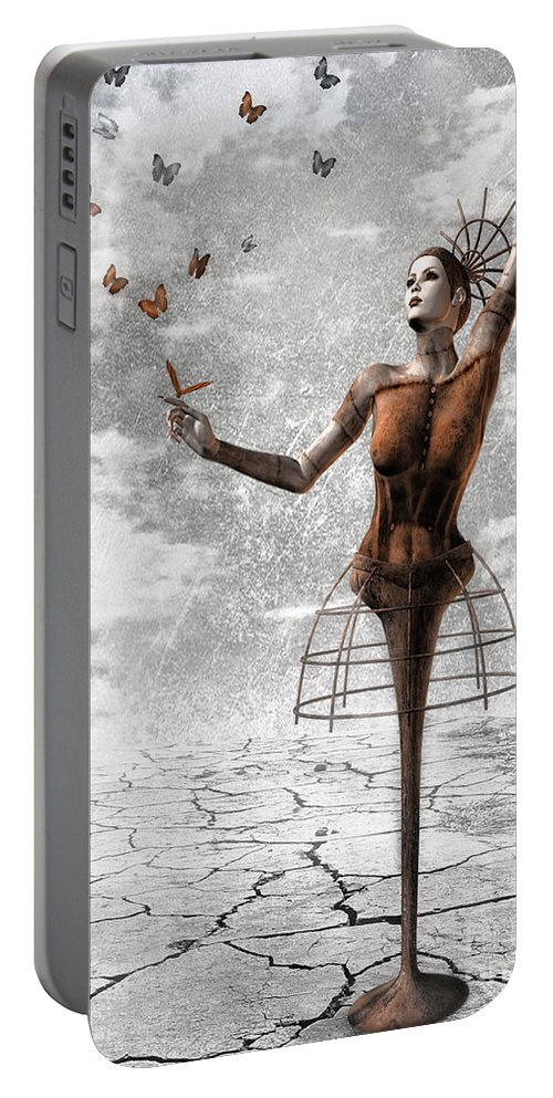 Surreal Portable Battery Charger featuring the painting Still Believe by Jacky Gerritsen