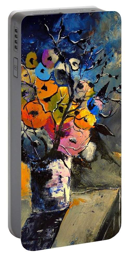 Still Life Portable Battery Charger featuring the painting Still Lfe 452363 by Pol Ledent