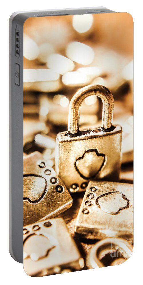 Locks Portable Battery Charger featuring the photograph Still-life At The Safehouse by Jorgo Photography - Wall Art Gallery