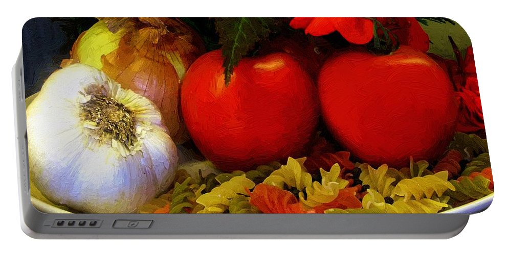Food Portable Battery Charger featuring the painting Still Life Italia by RC DeWinter