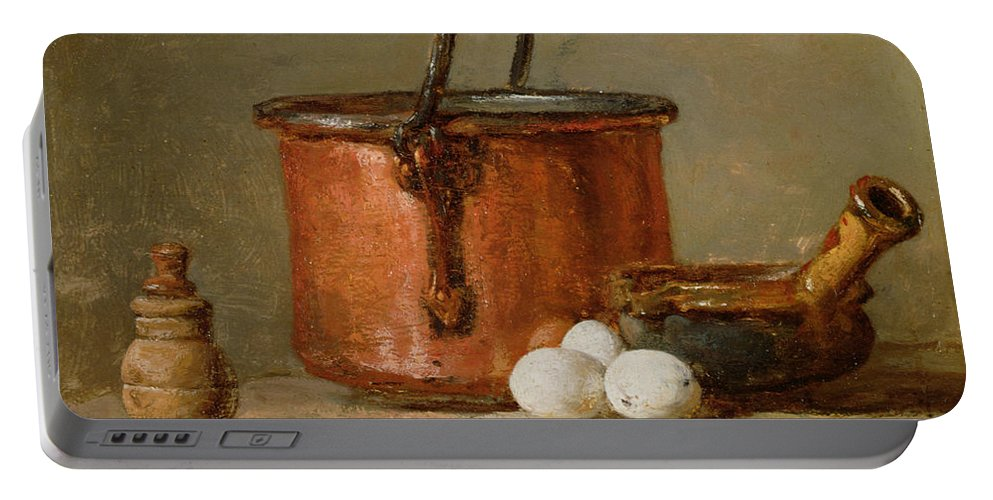 Still Portable Battery Charger featuring the photograph Still Life by Jean-Baptiste Simeon Chardin