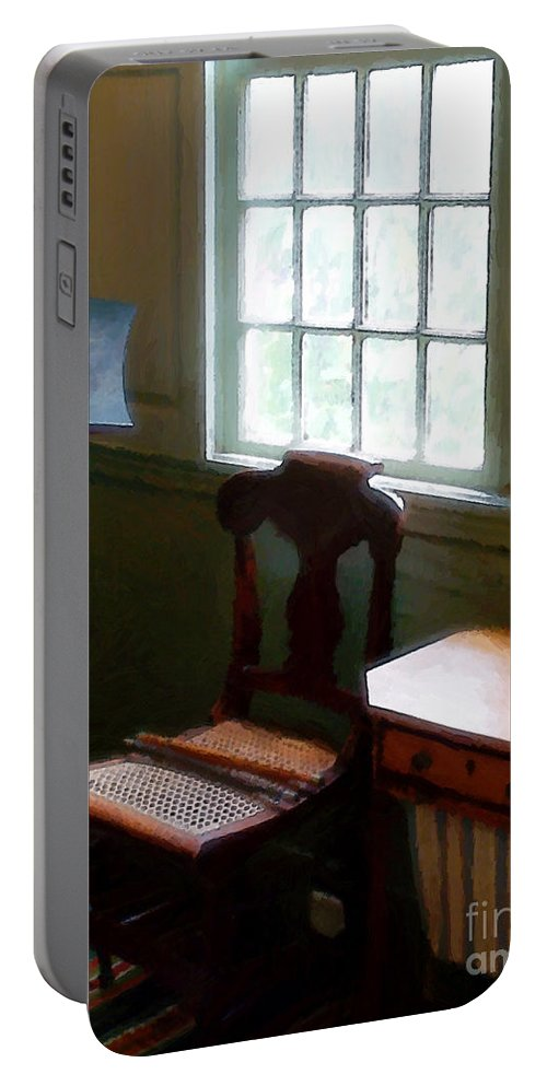 Still Life Portable Battery Charger featuring the painting Still Life, Stevens House by RC DeWinter