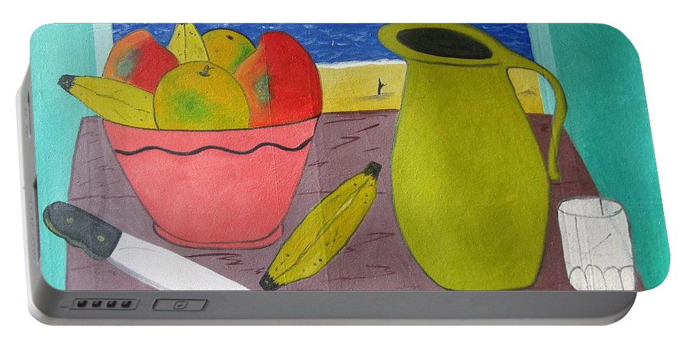 Still Life Portable Battery Charger featuring the painting Still Life With Sunsed by Francisco Vidal