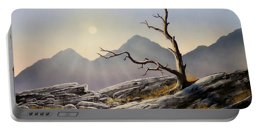 Still Standing Portable Battery Charger featuring the painting Still Standing by Frank Wilson