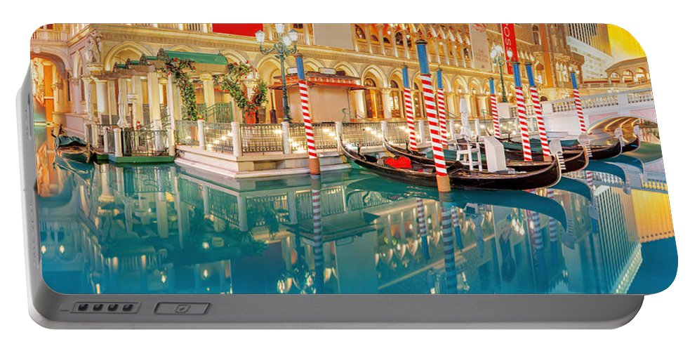 Las Vegas Portable Battery Charger featuring the photograph Still Waters by Az Jackson