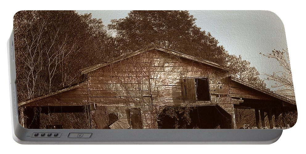 Barn Portable Battery Charger featuring the photograph Still Working by Amanda Barcon