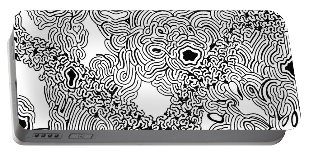 Mazes Portable Battery Charger featuring the drawing Stimulus by Steven Natanson