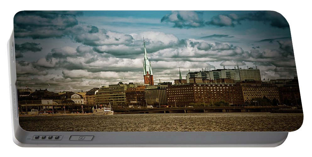 Stockholm Portable Battery Charger featuring the photograph Stockholm Ix by Ramon Martinez
