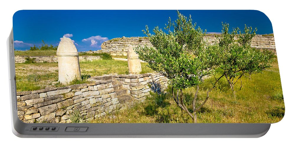 Asseria Portable Battery Charger featuring the photograph Stone Artefacts Of Asseria Ancient Town by Brch Photography