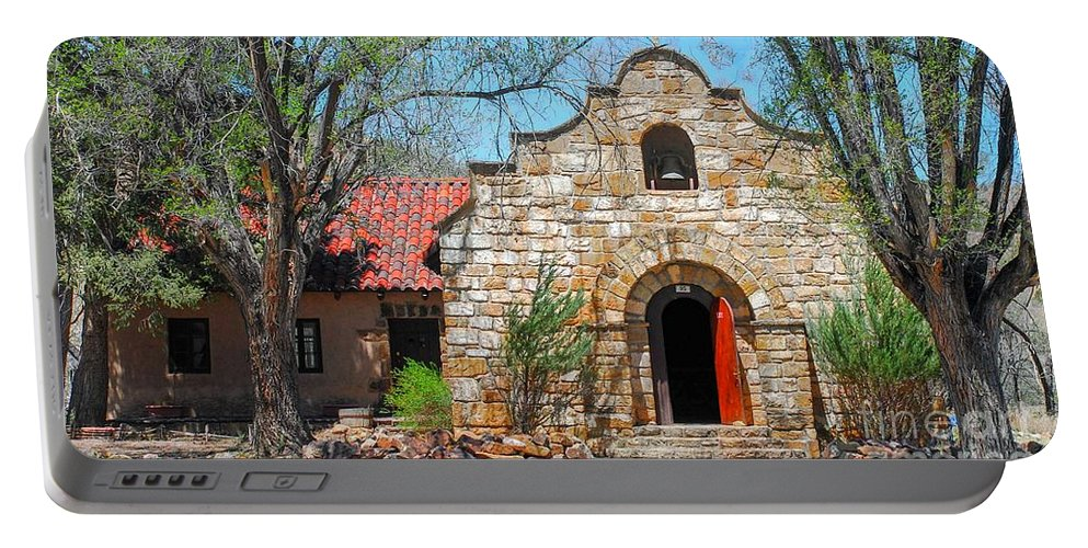 Church Portable Battery Charger featuring the photograph Stone Chapel by Melissa McInnis