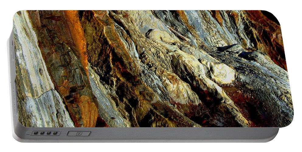 Rock Portable Battery Charger featuring the photograph Stone History by Donna Blackhall