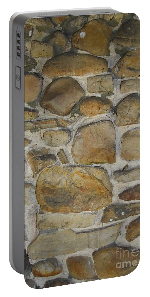Cabin Portable Battery Charger featuring the photograph Stone Hot by Lisa Kleiner