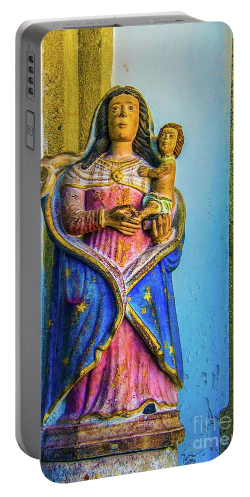 Madonna Portable Battery Charger featuring the photograph Stone Madonna by Roberta Bragan