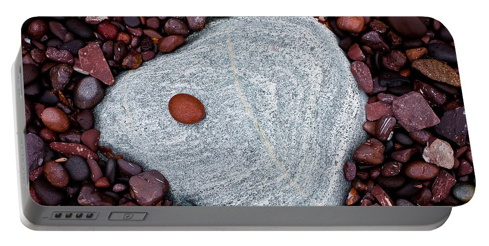 Autumn Portable Battery Charger featuring the photograph Stone Simplicity by Rikk Flohr