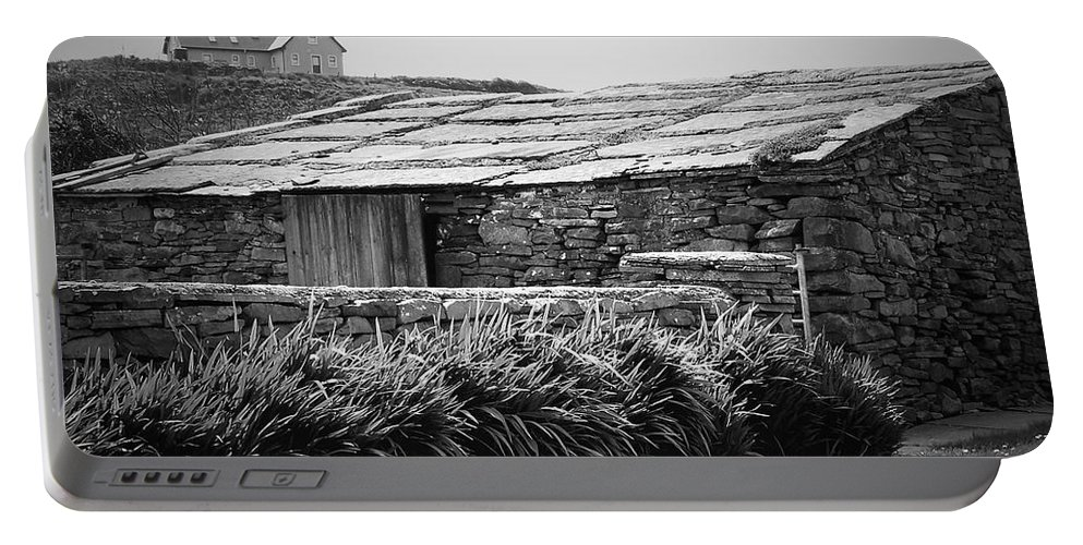 Irish Portable Battery Charger featuring the photograph Stone Structure Doolin Ireland by Teresa Mucha