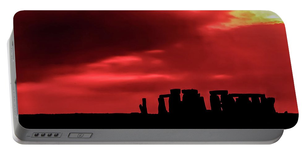 Stonehenge Portable Battery Charger featuring the photograph Stonehenge II by Steve Harrington
