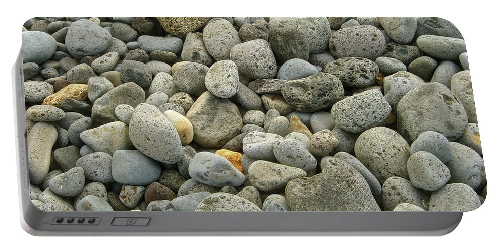 Abstract Portable Battery Charger featuring the photograph Stones by Michael Peychich