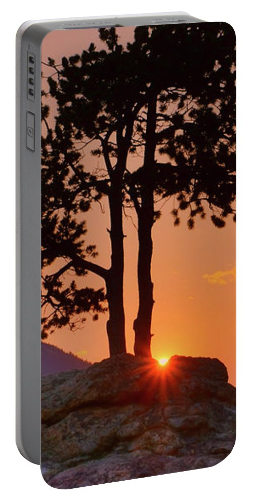 Stop Right Here Portable Battery Charger featuring the photograph Stop Right Here - Rocky Mountain Np - Sunrise by Nikolyn McDonald