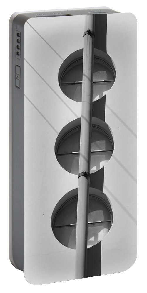 Architecture Portable Battery Charger featuring the photograph Stop Yield And Go by Rob Hans
