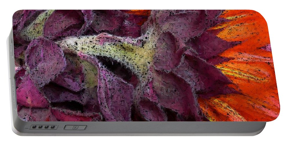 Flower Portable Battery Charger featuring the photograph Store Flower by Ron Bissett