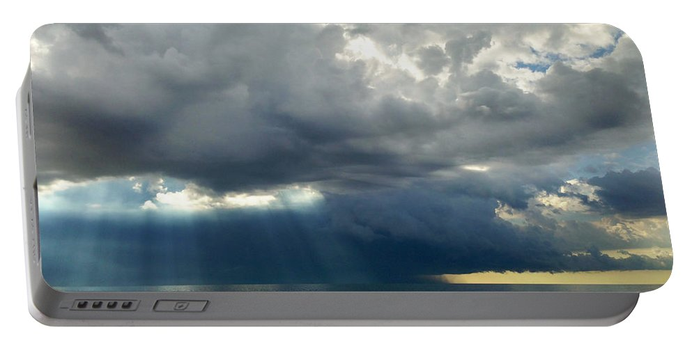Cloud Portable Battery Charger featuring the photograph Storm Approaching by Mikael Sandblom
