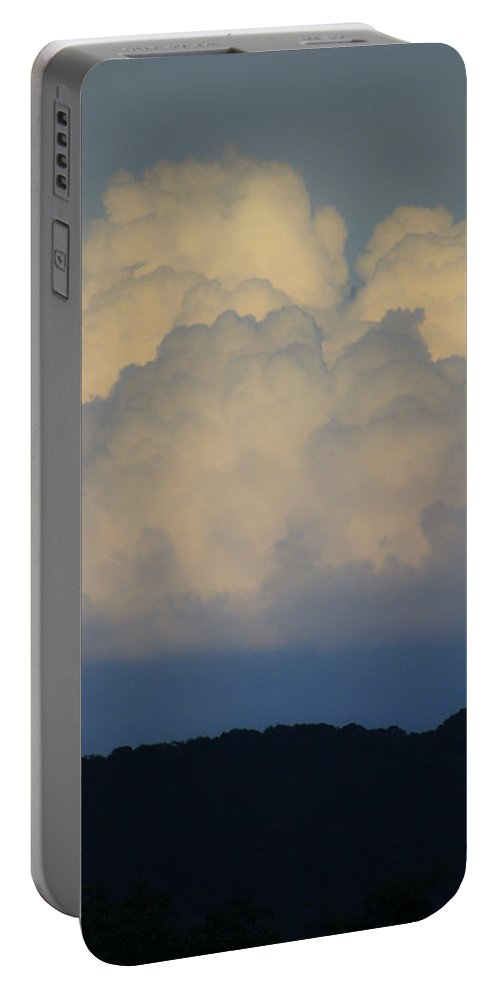 Clouds Portable Battery Charger featuring the photograph Storm At Sunset Bluestone State Park West Virginia by Teresa Mucha