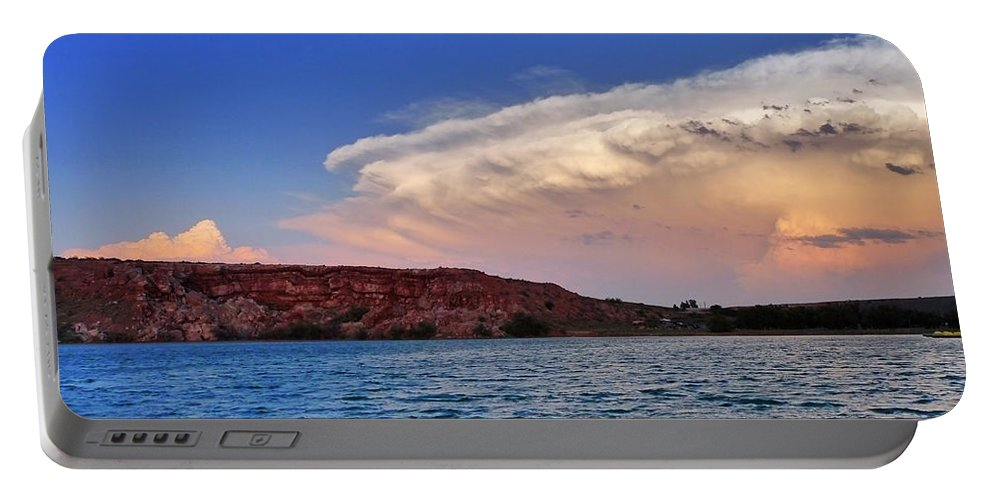 Skip Hunt Portable Battery Charger featuring the photograph Storm Brew by Skip Hunt