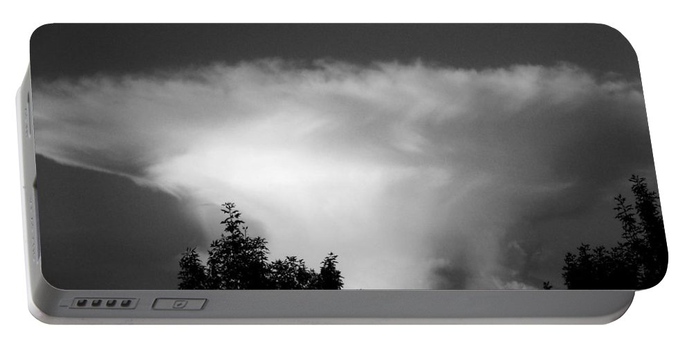 Cloud Portable Battery Charger featuring the photograph Storm Cloud by Juergen Weiss