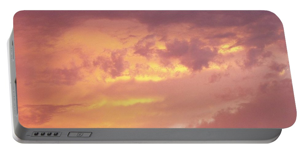 Clouds Portable Battery Charger featuring the photograph Storm Clouds by Deborah Crew-Johnson