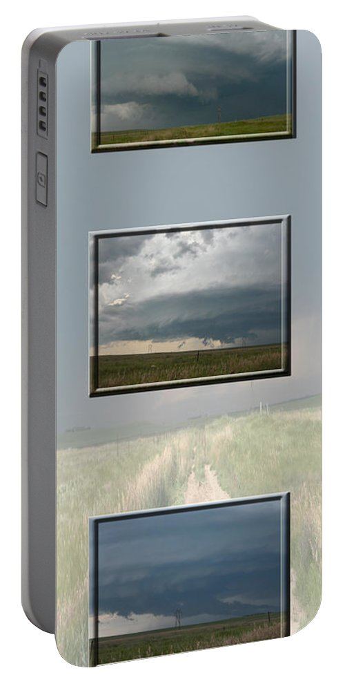 Tornado Strom Weather Rain Thunder Clouds Wind Portable Battery Charger featuring the photograph Storm Collection by Andrea Lawrence