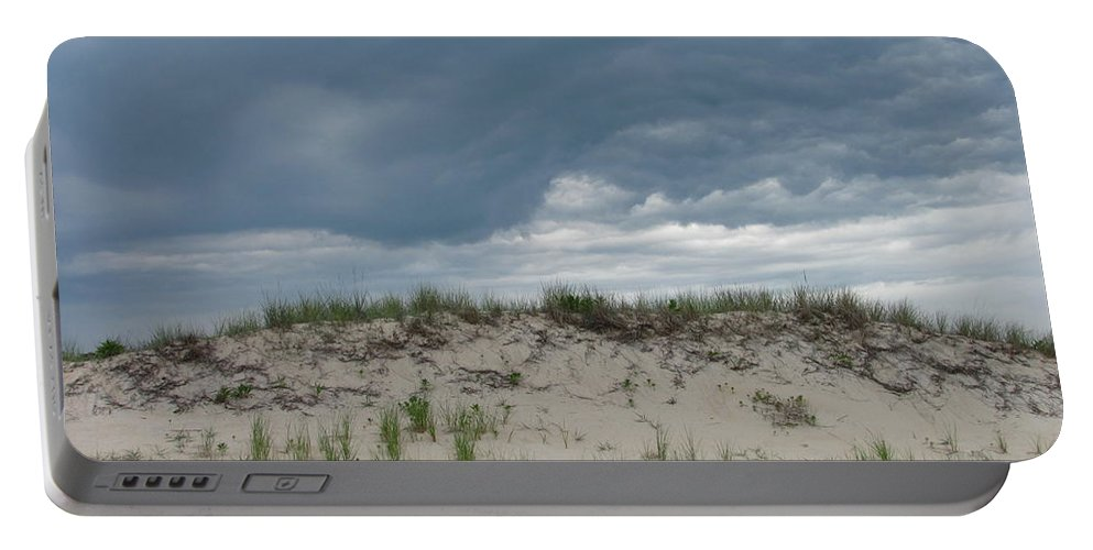 Storm Cloud Sand Dune Photograph Seashore Canvas Prints Landscape Portable Battery Charger featuring the photograph Storm Dune by Joshua Bales