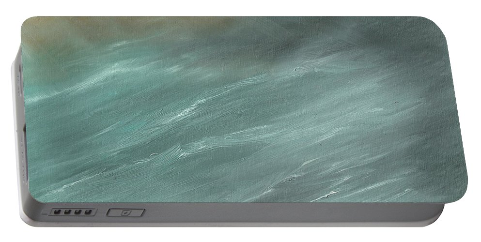 Storms Portable Battery Charger featuring the painting Storm In Deep Ocean by Vincent Alexander Booth