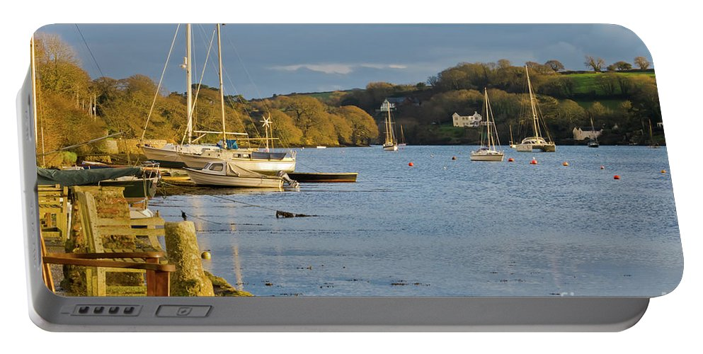 Mylor Bridge Portable Battery Charger featuring the photograph Storm Light At Mylor Bridge by Terri Waters
