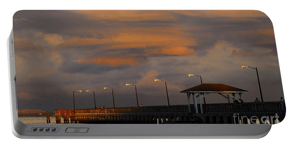 Storm Portable Battery Charger featuring the photograph Storm Over Ballast Point by David Lee Thompson